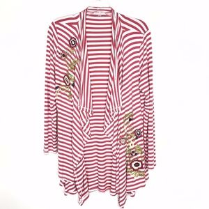 Soft Surroundings Floral Embroidered Cardigan